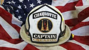 firefighter shields leather helmet