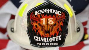 firefighter helmet leather shield