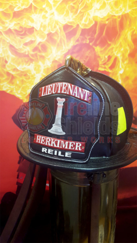 Leather Fire Helmet Shields