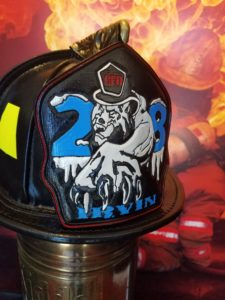 gallery of custom fire helmet shields