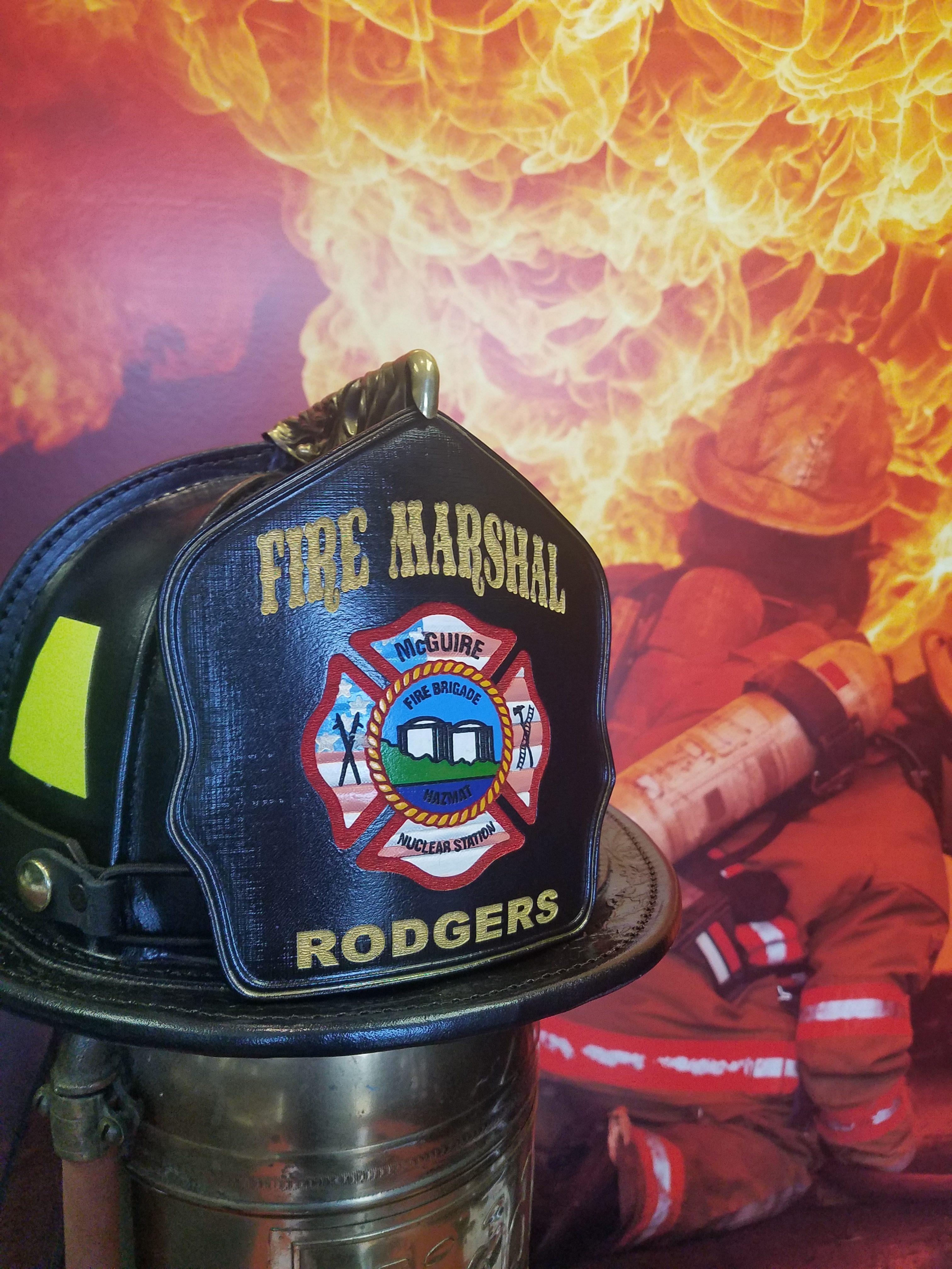 Fireline Shields Leather Firefighter Shields Radio