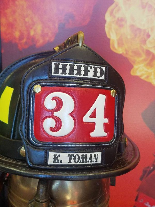 FDNY Fire Helmet Shield Front