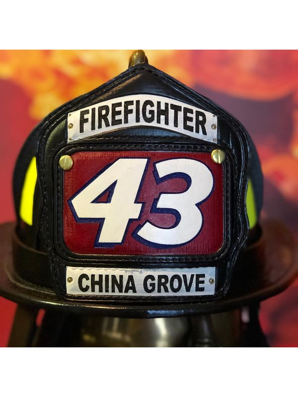 Custom FDNY Fire Helmet Shield