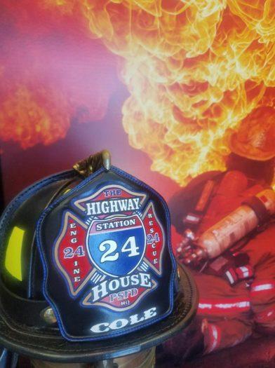 FIRE HELMET FRONT SHIELD