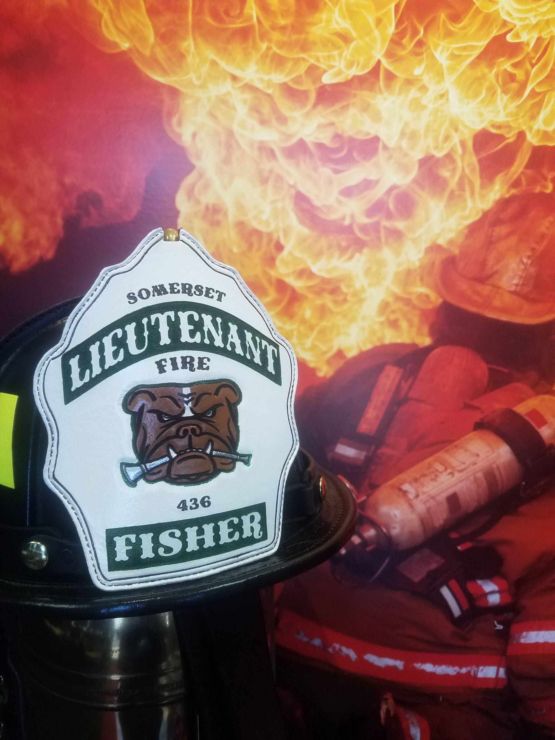 Firefighter Shields, Gillis Fronts, Helmet Fronts