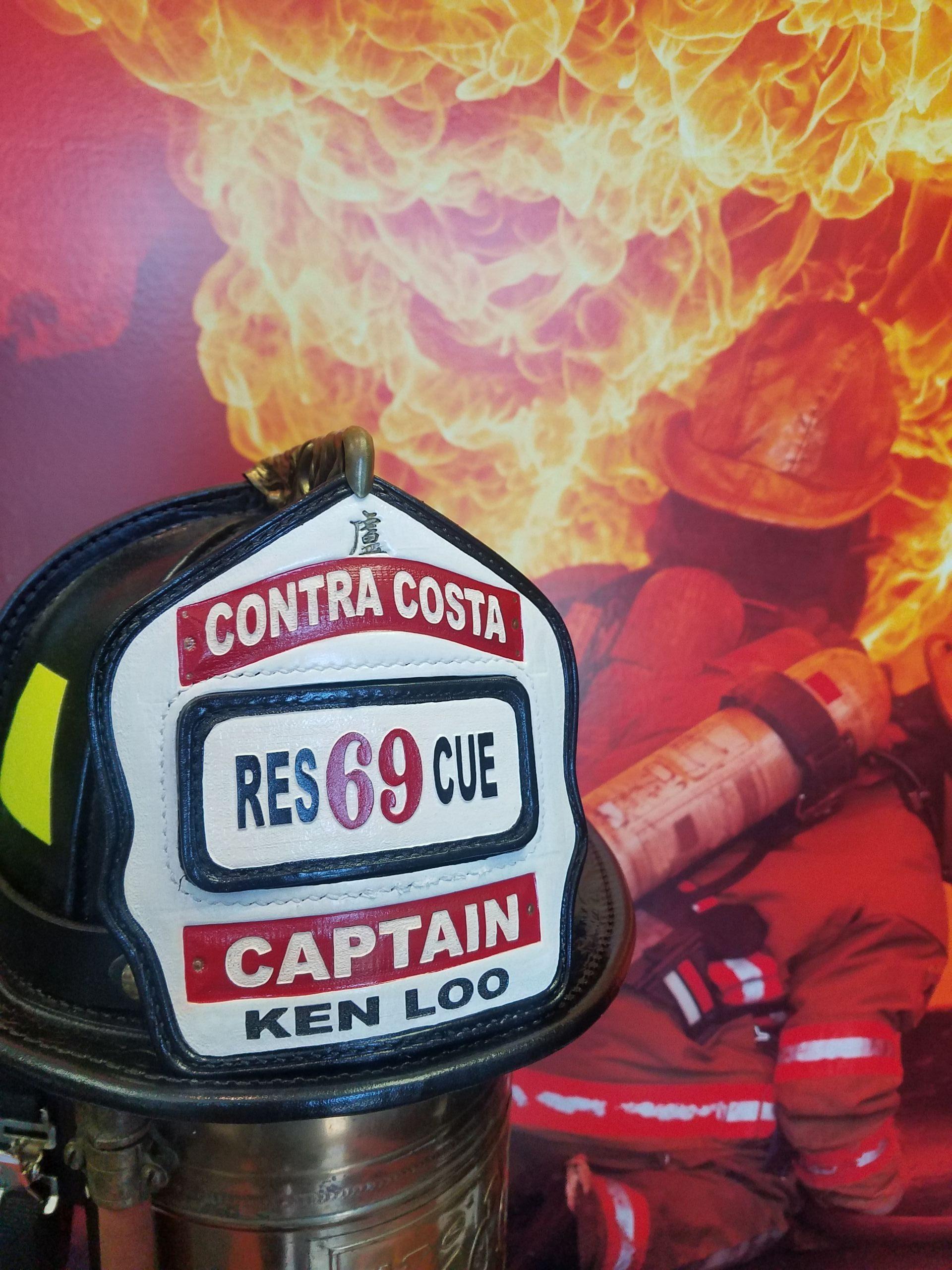 firefighter shields, helmet fronts