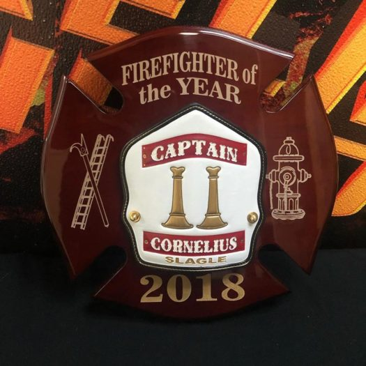 FIREFIGHTER OF THE YEAR MALTESE PLAQUE