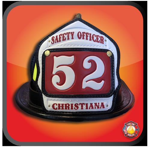 custom fire helmet shields