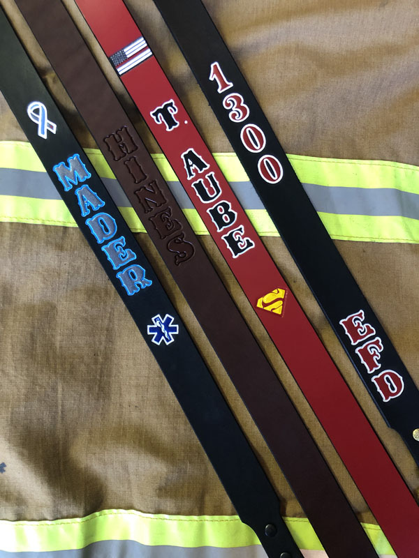 Leather Firefighter Radio Strap
